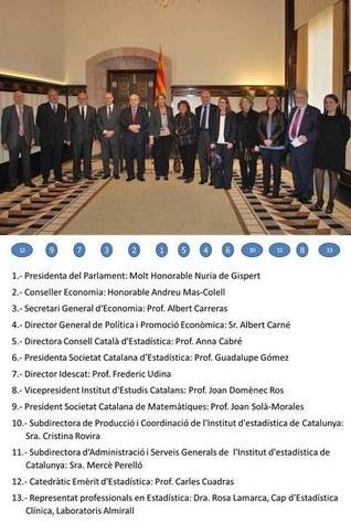 Declaració del Parlament de Catalunya amb motiu de l'Any Internacional de l'Estadística